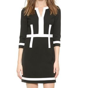 DVF Petra 3/4 sleeve color block dress size 6